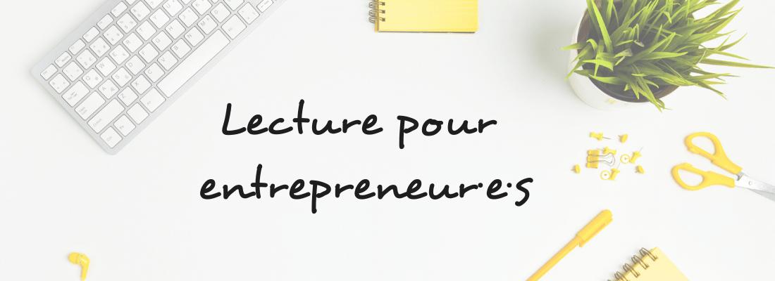 blog lecture pour entrepreneurs